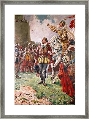 Elizabeth I The Warrior Queen Framed Print by CL Doughty