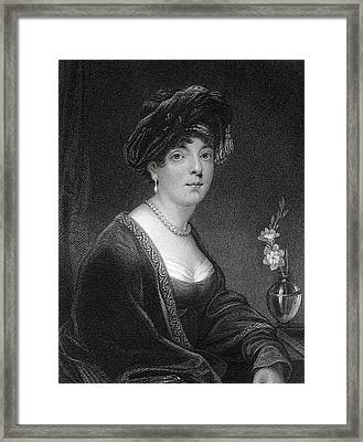 Elizabeth Leveson Gower Duchess And Framed Print by Vintage Design Pics