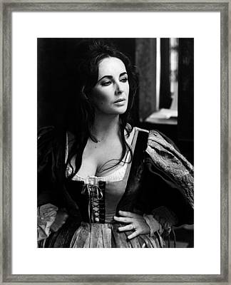 Elizabeth Taylor In The Taming Of The Shrew Framed Print by Unknown