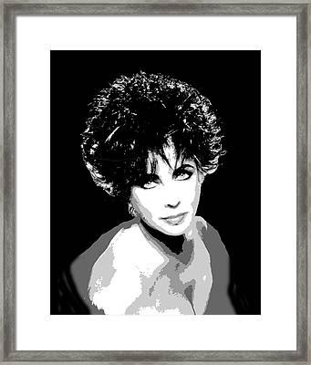 Elizabeth Taylor Framed Print by Richard La Valle