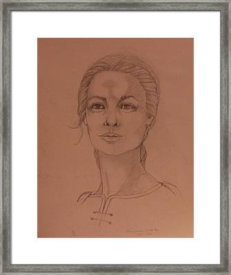 Elizabeth The White Queen Framed Print by Anne Buffington
