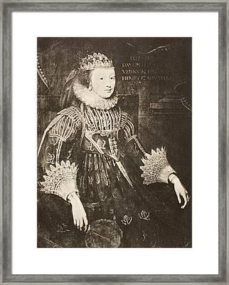 Elizabeth Wriothesley  N Framed Print by Vintage Design Pics