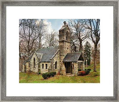 Elkhart Illinois Chapel Framed Print by Marty Koch