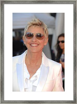 Ellen Degeneres In Attendance Framed Print by Everett