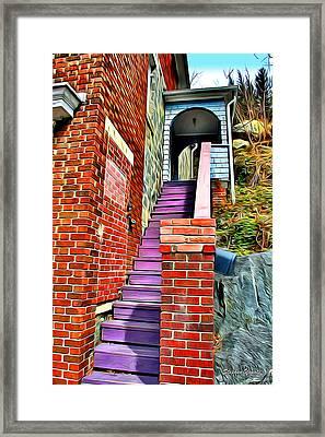 Ellicott City Steps Framed Print by Stephen Younts