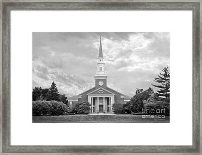 Christs Birthday Framed Print featuring the photograph Elmhurst College Hammerschmidt Chapel by University Icons