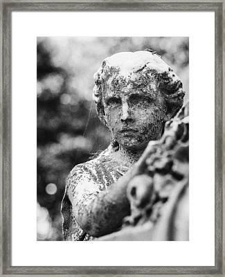 Elmwood Cemetery - Cassie Hill Bw Framed Print by Jon Woodhams