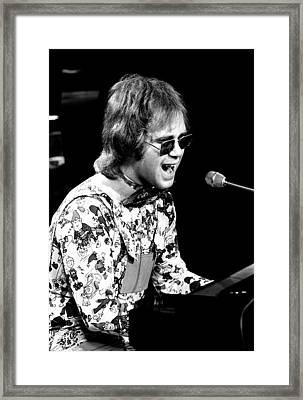 Elton John 1970 #3 Framed Print by Chris Walter