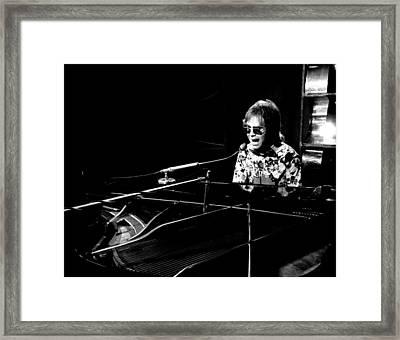 Elton John 1970 #4 Framed Print by Chris Walter