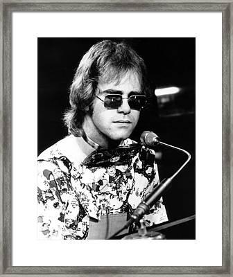 Elton John 1970 #1 Framed Print by Chris Walter
