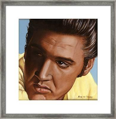 Elvis 24 1956 Framed Print by Rob De Vries