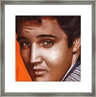 Elvis 24 1957 Framed Print by Rob De Vries
