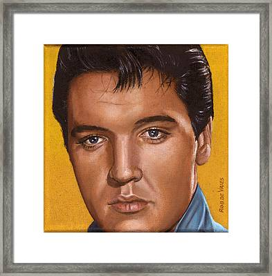 Elvis 24 1965 Framed Print by Rob De Vries