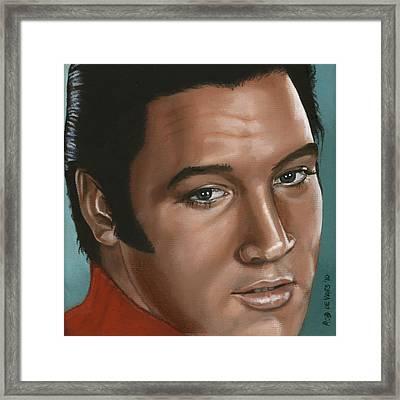 Elvis 24 1968 Framed Print by Rob De Vries