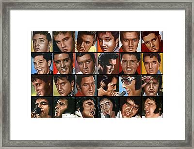Elvis 24 Framed Print by Rob de Vries