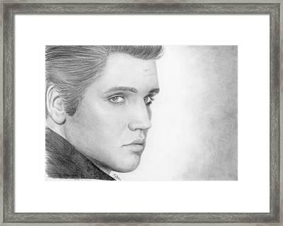 Elvis Framed Print by Bitten Kari