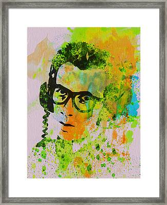 Elvis Costello Framed Print by Naxart Studio
