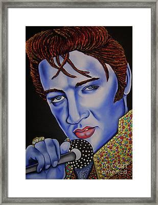 Elvis Framed Print by Nannette Harris