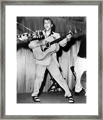Elvis Presley, C. Mid-1950s Framed Print by Everett