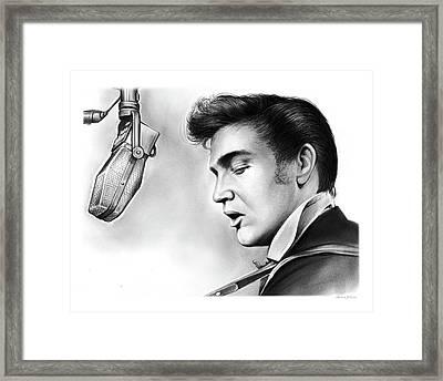 Elvis Presley Framed Print by Greg Joens