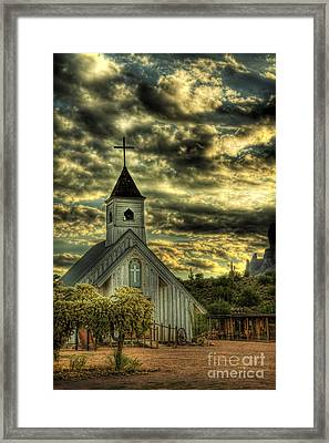 Elvis Presley Memorial Chapel  Framed Print by Saija  Lehtonen