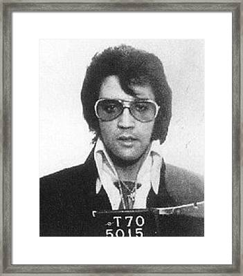 Elvis Presley Mug Shot Vertical Framed Print by Tony Rubino