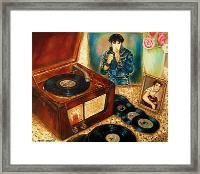 Elvis Presley Still Number One Framed Print by Carole Spandau