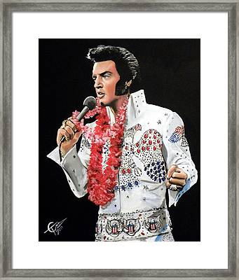 Elvis Framed Print by Tom Carlton