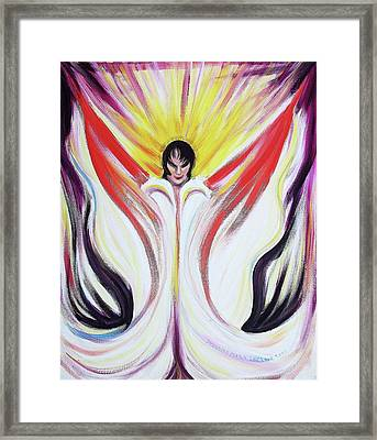 Elvis With Cape Framed Print by Suzanne  Marie Leclair