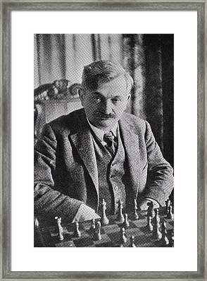 Emanuel Lasker 1868   1941 German Chess Framed Print by Vintage Design Pics