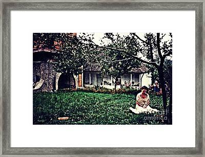Emanuela At Prayer Framed Print by Sarah Loft