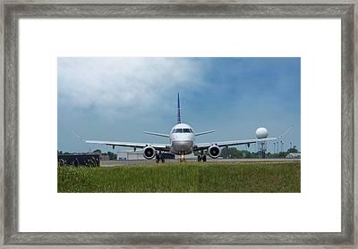 Embraer Erj170 Framed Print by Guy Whiteley