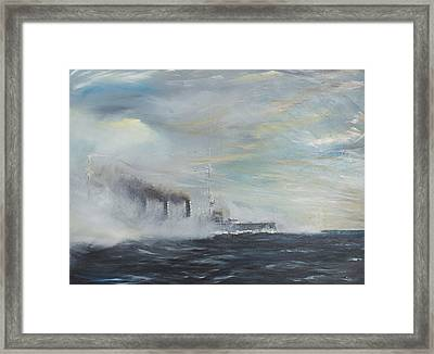 Emden The Swan Of The East Framed Print by Vincent Alexander Booth