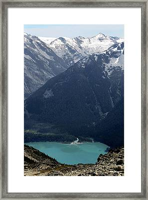 Emerald Cheakamus Lake Whistler Canada Framed Print by Pierre Leclerc Photography