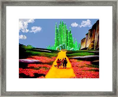 Emerald City Framed Print by Tom Zukauskas