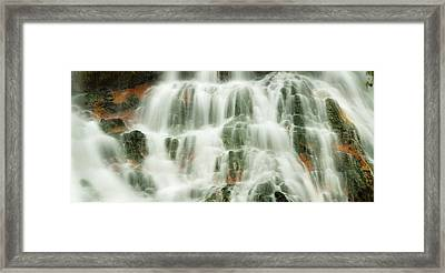 Emerald Falls Iv Framed Print by Sun Gallery Photography Lewis Carlyle