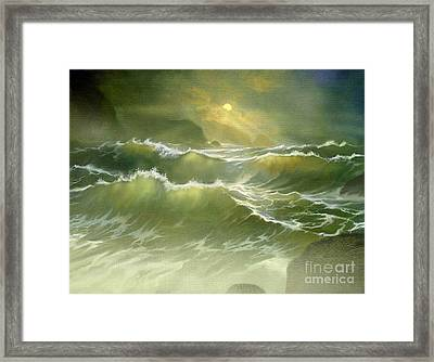 Emerald Sea Framed Print by Robert Foster