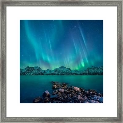 Emerald Sky Framed Print by Tor-Ivar Naess