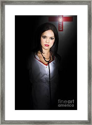 Emergency Department Nurse Framed Print by Jorgo Photography - Wall Art Gallery