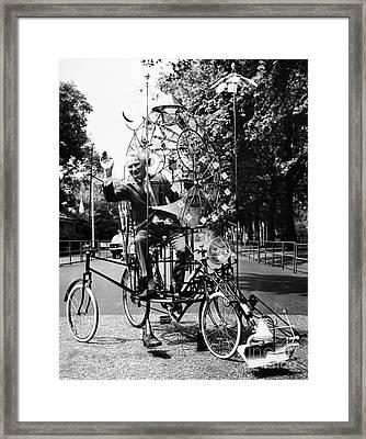 Emett: Lunacycle, 1970 Framed Print by Granger