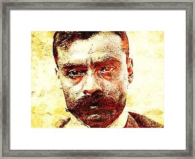 Emiliano Zapata Framed Print by Jose Espinoza