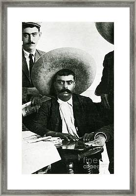 Emiliano Zapata Framed Print by Science Source