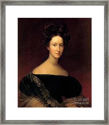 Emily Donelson, First Lady Framed Print by Science Source