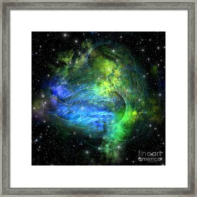 Emission Nebula Framed Print by Corey Ford