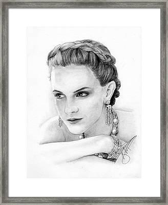 Emma Watson Framed Print by Rosalinda Markle