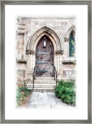Emmanuel Church Newbury Street Boston Ma Framed Print by Edward Fielding