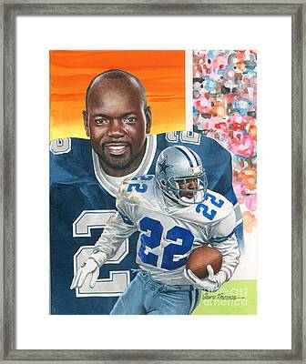 Emmit Smith Framed Print by Gary Thomas