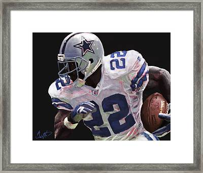 Emmitt Smith  Framed Print by Gabriel Lopez