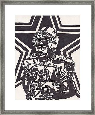 Emmitt Smith Framed Print by Jeremiah Colley