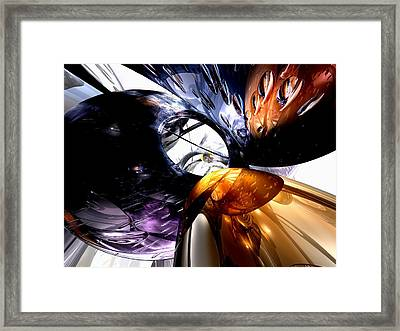 Emotional Scars Abstract Framed Print by Alexander Butler